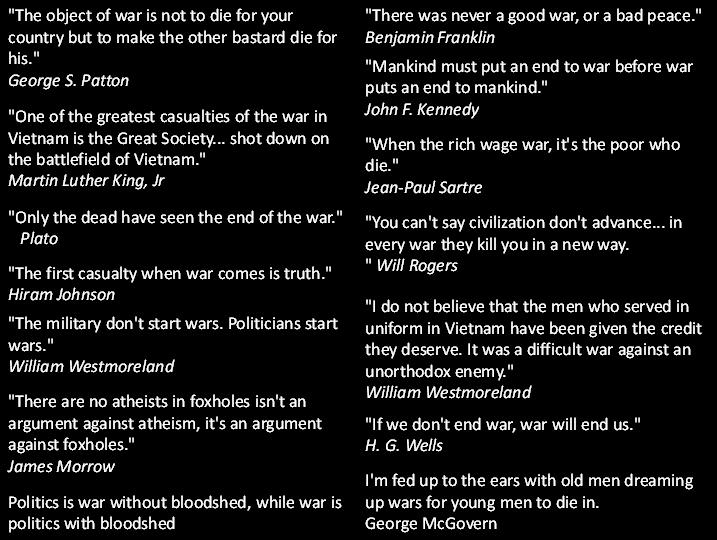 quotes about war. Webmaster